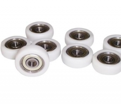 Bearing with plastic coating